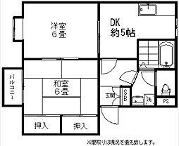 新潟県新潟市西区寺尾の賃貸アパートの間取り