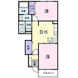 セイバリ−溝辺I[1階]の間取り