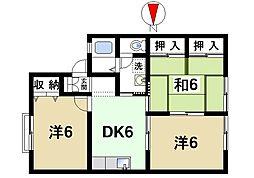 奈良県奈良市恋の窪1丁目の賃貸アパートの間取り