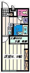 埼玉県さいたま市岩槻区岩槻の賃貸アパートの間取り