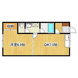 セイントハウス[2-2号室]の間取り