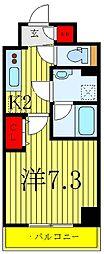 東京メトロ南北線 志茂駅 徒歩2分の賃貸マンション 11階1Kの間取り