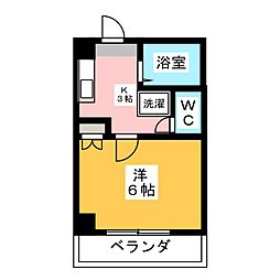 マンション八木倉[4階]の間取り