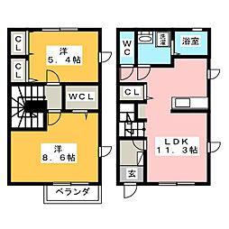 サニーコート新富士[1階]の間取り