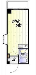 神奈川県横須賀市深田台の賃貸マンションの間取り