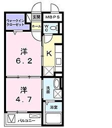 ライルI[2階]の間取り