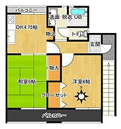 栃木県日光市和泉の賃貸アパートの間取り