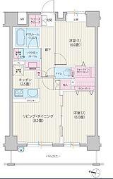 神奈川県横浜市南区高根町3丁目の賃貸マンションの間取り