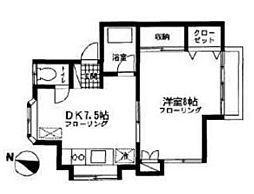 神奈川県横浜市金沢区柴町の賃貸アパートの間取り