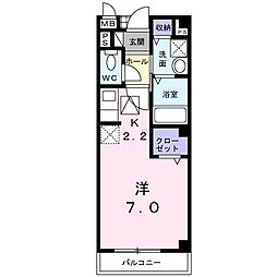 リオンA[2階]の間取り