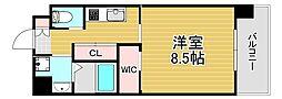 PHOENIX Clove Tomoi 9階1Kの間取り