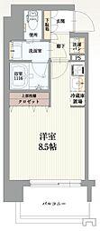 ファーストステージ福島パークサイド 4階1Kの間取り