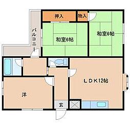 兵庫県尼崎市神崎町の賃貸マンションの間取り