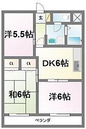 新堀ハイツ[3階]の間取り
