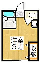 ハイツ三宅[202号室]の間取り