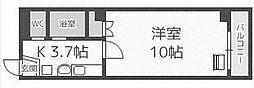 ベルファーレ前田[106号室]の間取り