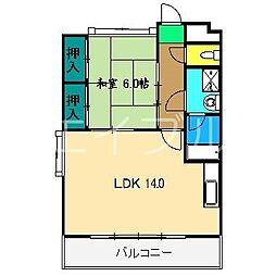 サンポートハイム高須[3階]の間取り