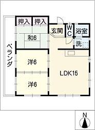 白壁inn[1階]の間取り