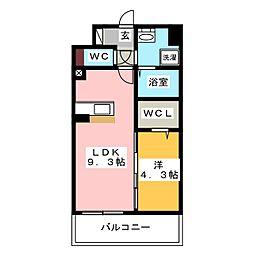 modern palazzo HAKATA riva II[12階]の間取り