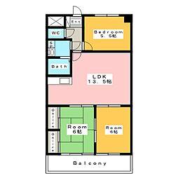 フローレンス三河安城[6階]の間取り