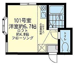 シャトンボヌール横濱[1階]の間取り