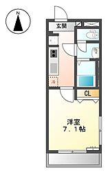 愛知県名古屋市北区志賀本通2丁目の賃貸アパートの間取り