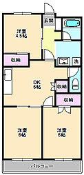 塚戸マンション[305号室]の間取り