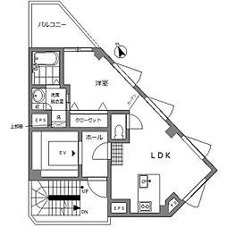 東京メトロ南北線 白金台駅 徒歩7分の賃貸マンション 5階1LDKの間取り