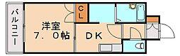 福岡県飯塚市柏の森の賃貸マンションの間取り