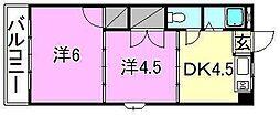 ロイヤル三津[606 号室号室]の間取り