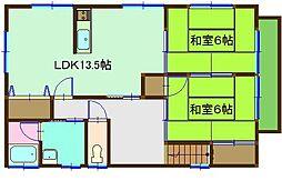 カーサ吉井A・B[C201号室]の間取り