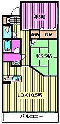 埼玉県さいたま市大宮区東町1丁目の賃貸マンションの間取り