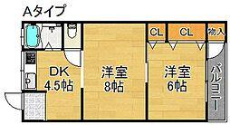 マンション若竹[205号室]の間取り
