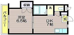 第13島田マンション[210号室]の間取り