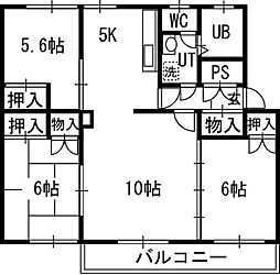 北海道札幌市白石区本郷通8丁目北の賃貸マンションの間取り