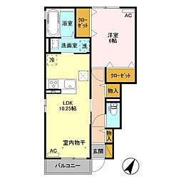 (仮)D-roomウィットS東貝沢町[102号室]の間取り