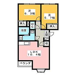 オークヒル[2階]の間取り