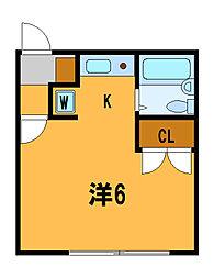 神奈川県藤沢市本町1丁目の賃貸アパートの間取り