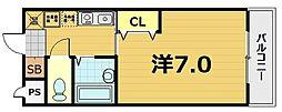 スターボード28[206号室]の間取り