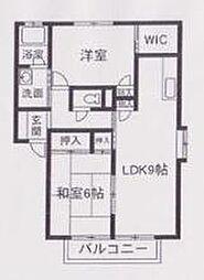 群馬県太田市内ケ島町の賃貸アパートの間取り