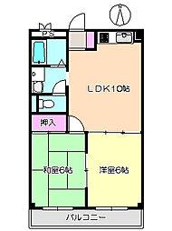 ピレネ園田 202[2階]の間取り