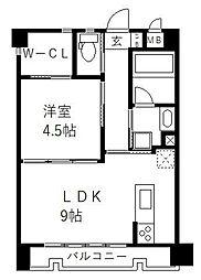 JR鹿児島本線 香椎駅 徒歩5分の賃貸マンション 3階1LDKの間取り