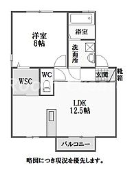 徳島県徳島市佐古七番町の賃貸アパートの間取り