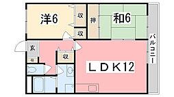 リディアヤマモト壱番館[4階]の間取り
