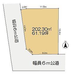 佐倉のセンチュリー21 寺崎北建築条件付き土地 南西角地