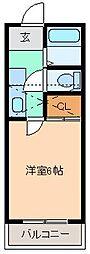 ベルシオン桐生第2[105号室]の間取り