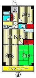 LAZFITH SHINYABASHIRA[3階]の間取り
