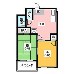 第6村上ビル[2階]の間取り