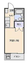 ビューラー三ケ島パート1[108号室号室]の間取り