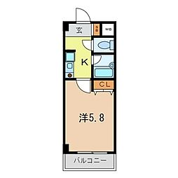 HKビル[304号室]の間取り